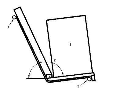 座垫与靠背角度的测量工具